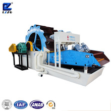 Model sea sand washing, screening, recycling and dewatering machine