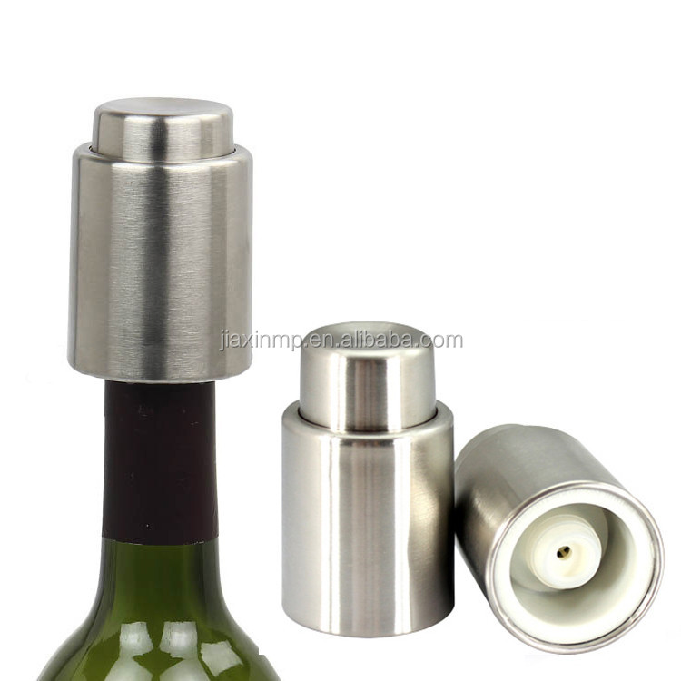 Stainless Steel Push-type Vacuum Red <strong>Wine</strong> Storage Bottle Stopper Plug Bottle Cap for Red <strong>Wine</strong> Bottles