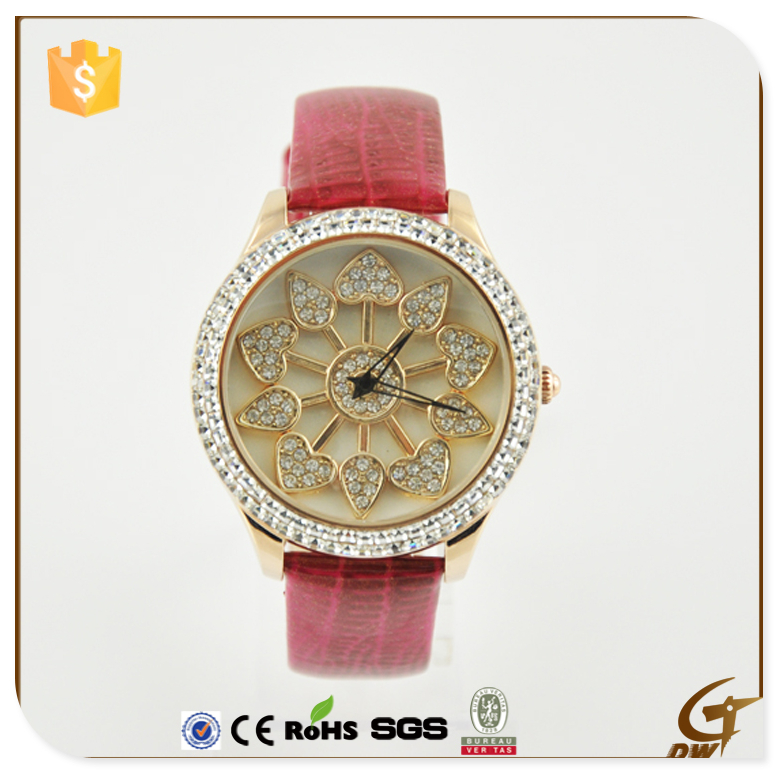 Alloy Watches With Diamond Bling Crystal Women and Girls with full crystal wrist watch for ladies dress