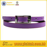 Fluorescence Light Woman Custom Leather Belt