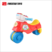 3 Wheels Kids Simulation Plastic Ride On Motorcycle Toy With Music and Light