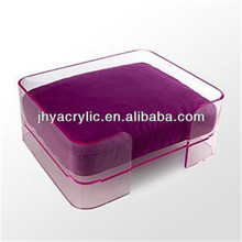 modern design clear lucite acrylic pet dog bed wholesale