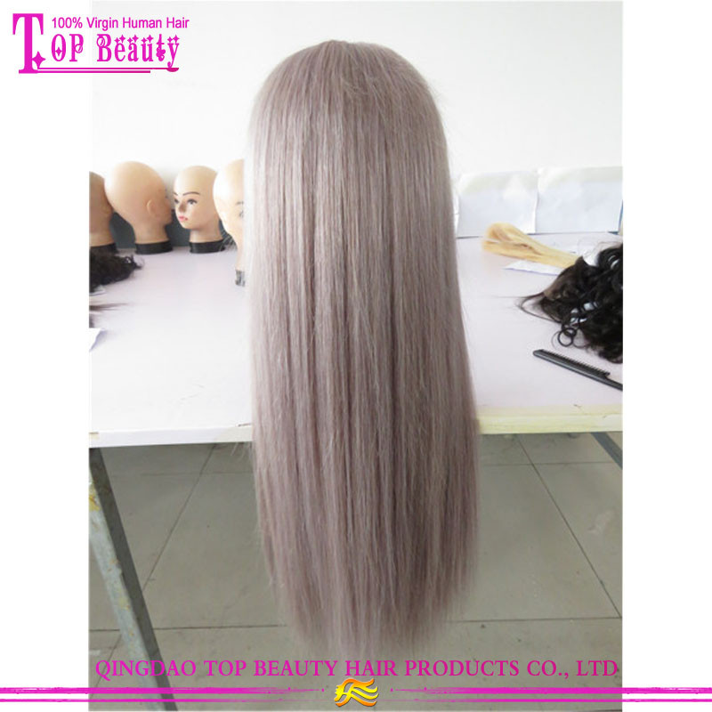 2017 New Arrival Silver Grey Human Hair Lace Wigs 100% Brazilian Virgin Hair Silver Lace Wigs