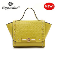 designer brand fashion women embossed pattern leather crocodile handbag 2014