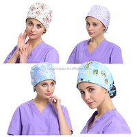 Disinfectant doctor operating hospital 100% cotton scrub surgical cap