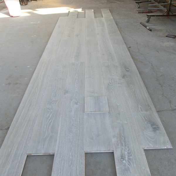 Grey Color Engineered Oak Parquet