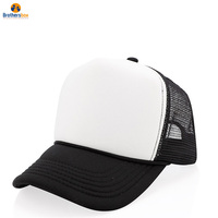 Wholesale custom logo 5 panel mesh trucker cap hat with custom color