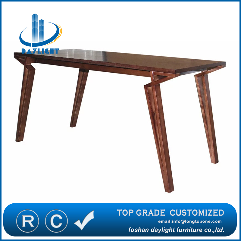 Luxury dining room furniture new modern design wooden dining table