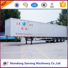 Hot selling van type /box container trailer /cargo semi trailer utility trailer