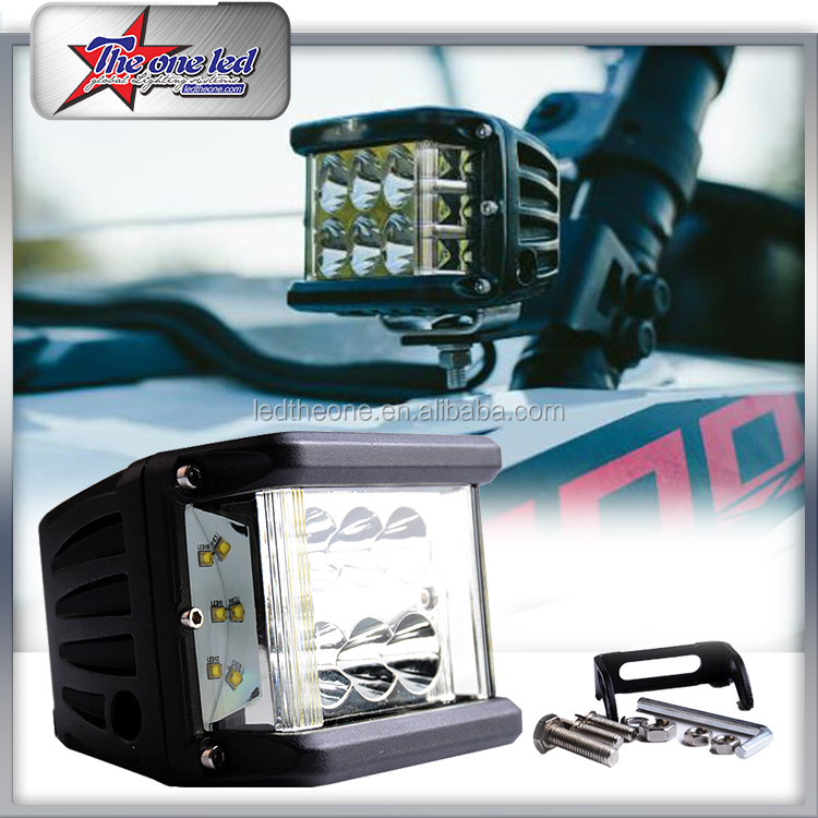 60W Black 4 inch led headlight car led driving work light square truck lights For Car ATV SUV Jeep Boat 4WD
