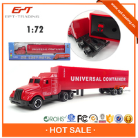 Crazy selling kids 1 72 small metal model toy truck and trailers for sale