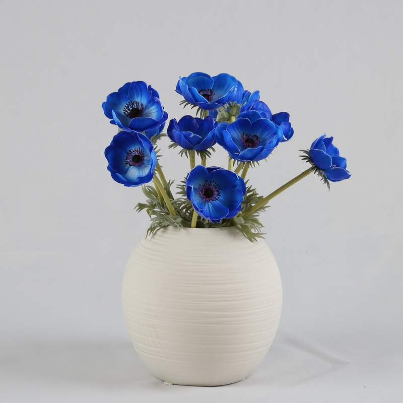 High hand-feeling PU Artificial Anemone with natural touch for home decoration