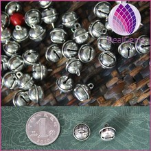 antique silver no sound bells faceted flower bells for diy jewelry