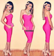 2015 Elegant new style celebrity knee length bandage dress wholesale