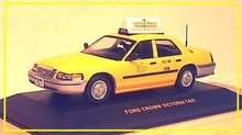 1/43 IXO New York City Ford Crown Victoria Taxi Cab-HIGH QUALITY! - 758