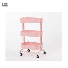 Colorful Rolling Metal Kitchen Trolley Cart