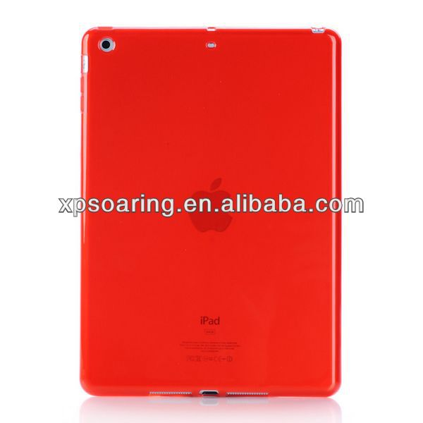 for ipad 5 TPU soft case back cover, for ipad air matt case