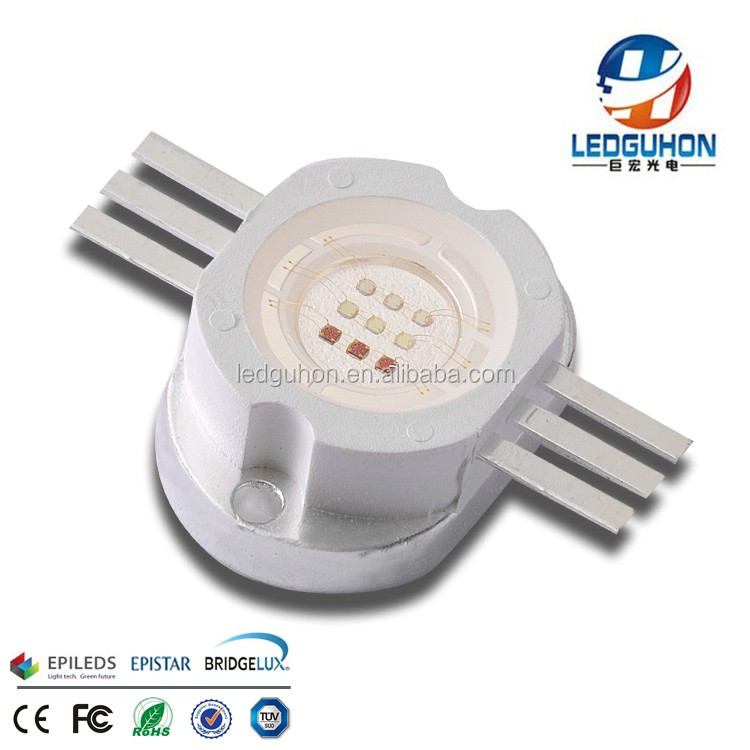 CE+ROHS certificated 6 pins 10w rgb high power led for floodlight use