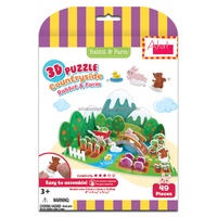3D Puzzle Country Side - Rabbit & Farm