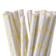 bar favor FDA eco disposable biodegradable striped bamboo drinking paper straws for wedding decoration