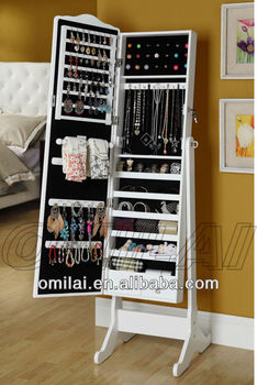 New Design Mirrored jewelry Armoire jewelry Accessories for woman