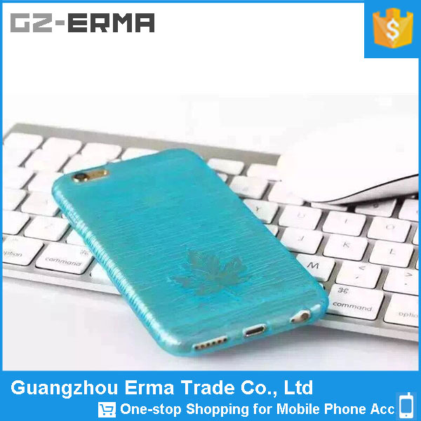 2016 Newest Ultra Thin Transparent Clear TPU Case Cover Maple Leaf