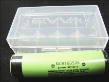 EVVA Transparent 18650 Plastic Battery Case