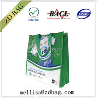 2014 free sample promotion foldable non-woven shopping bag with your logo pp nonwoven shopping bag
