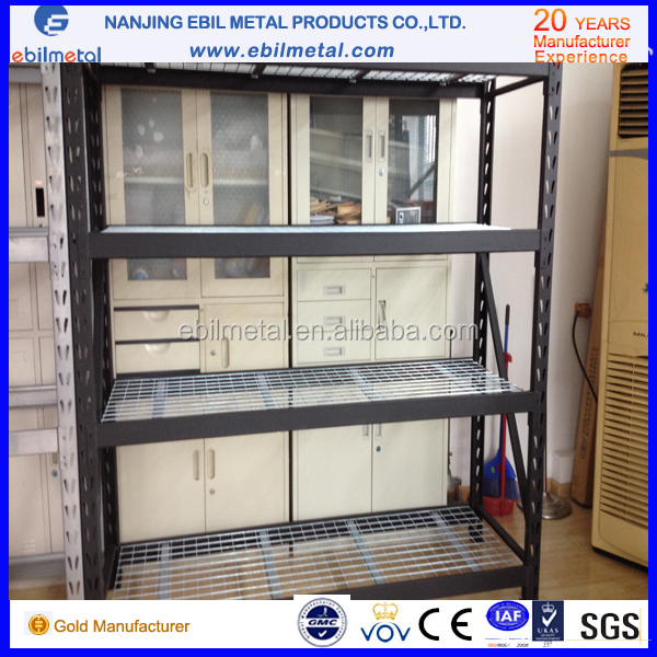 Wire mesh tool industrial shelving for warehouse storage system