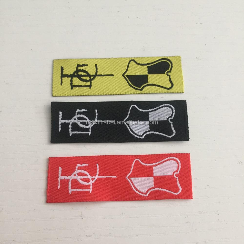 2017 custom high quality colorful woven labels main labels for clothing