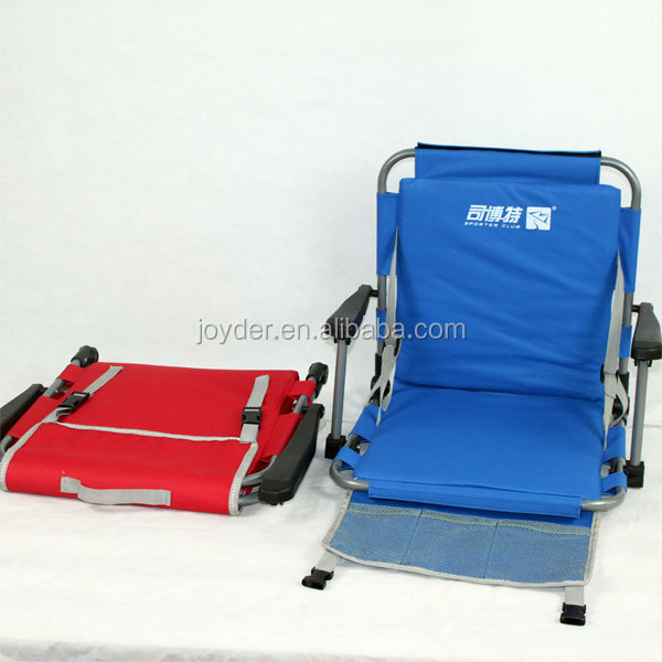 Portable Red Folding Stadium Chair, Padded Cushion Bleacher Sports Stadium Seat Cushion