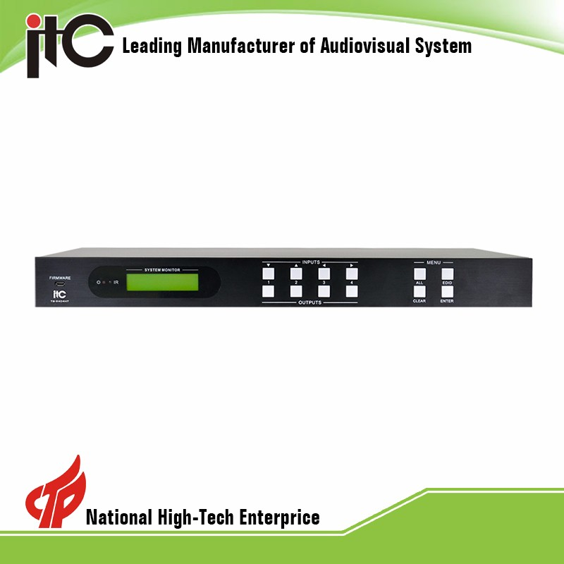 TS-9404HT Technology Powerful Function Integrated HDBase Video Audio Matrix Switcher