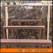 eson stone 107 black and gold brown polish marble big slab for sale