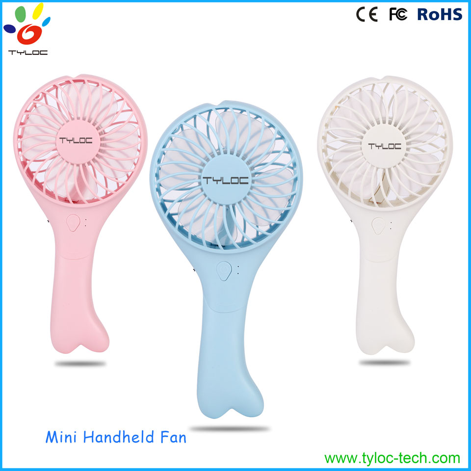 New design portable handheld cooling fan, mist usb electric rechargeable fan air cooling
