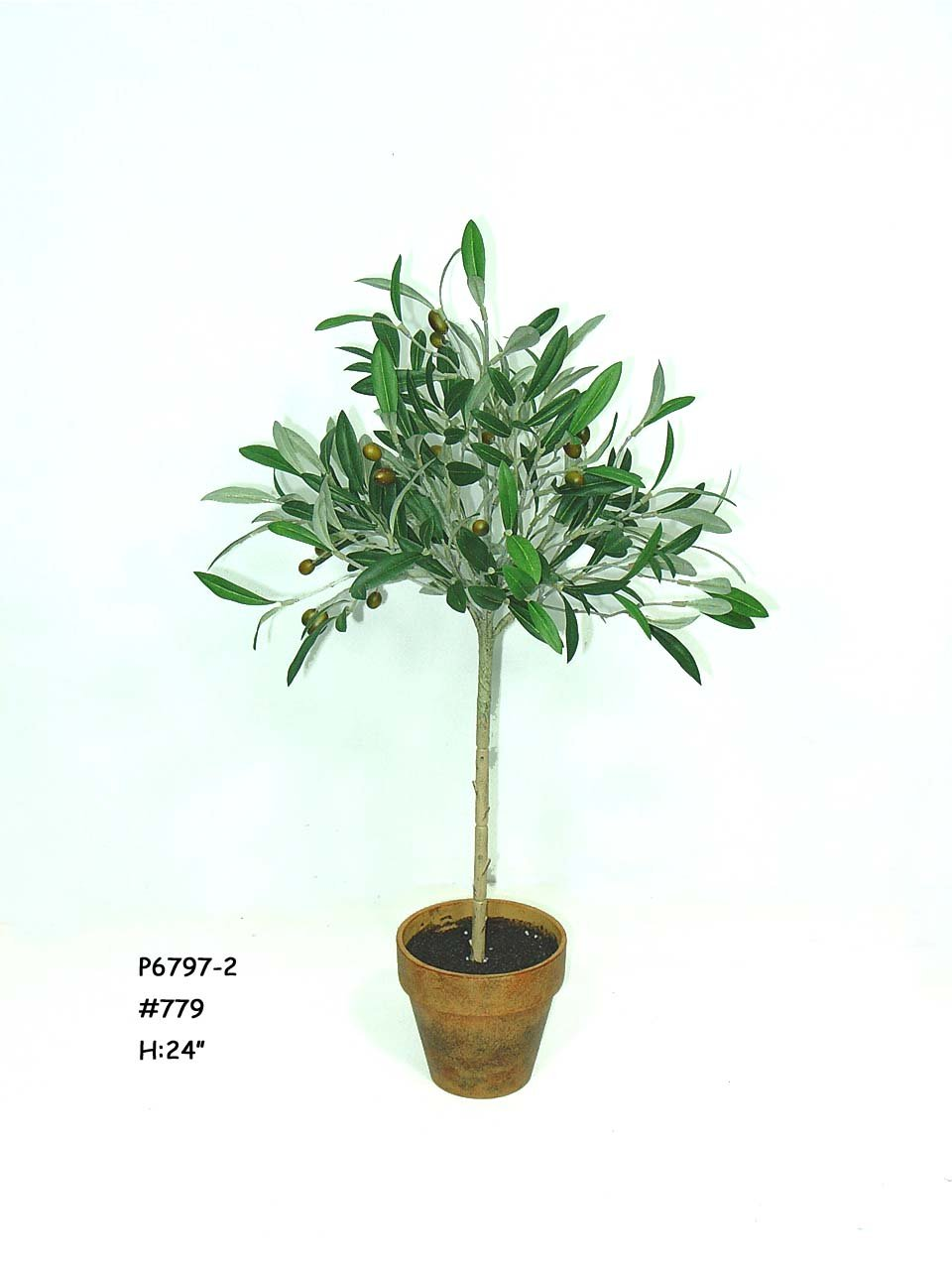 "24"" Olive Tree W/ 198 Lvs. , ARTIFICIAL FOLIAGES"