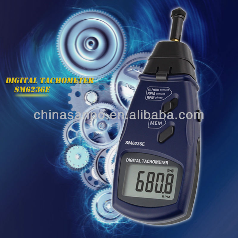 Digital photo/contact tachometer SM6236E Factory/surface speed meter