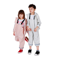 Heavy duty full length polyester girl kids raincoat