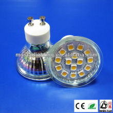 gu10 led glass 2.5W 15pcs 5050smd CE RoHS certificates gu10 led spotlight gu10 led 2.5W