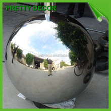 mirror finish hollow metal sphere