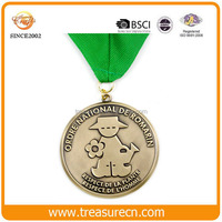 Wholesale school cheap sports blank gift antique fiesta pins medals manufacturer
