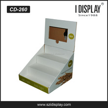 cardboard lcd digital counter display for snack retail