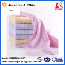 Factory Professionally Customized Simple Color Stripe Cotton Face Towel