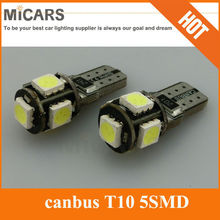 Good quality and cheap priceT10 5 SMD 5050 LED canbus error free LED car light spare parts car
