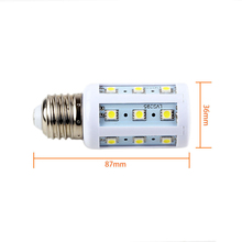 E27 5W LED Bulb 24 SMD 5050 Pure White 220V LED Corn Light Bulb More Efficient