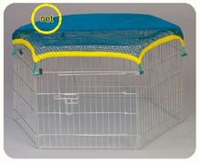 Folding Rabbit puppy exercise playpen Enclosure with sunshade cover