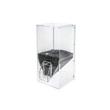 Free Standing Large Clear Acrylic Plexiglass Coffee Beans Dispenser with hopper