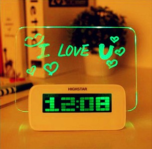 supply sell good alarm clock table clock high quality children alarm clock memo board hot selling