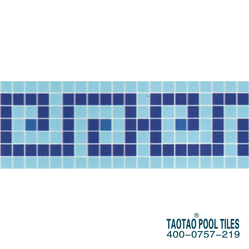 Designs swimming pool tile mosaics line light blue border tiles