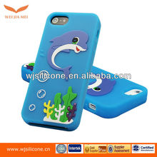 Cute dolphin Silicone Skin cover case for iphone5