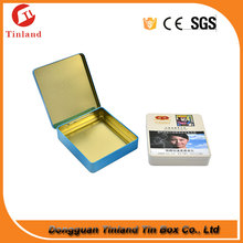 square hinged cigarette packing container tin box